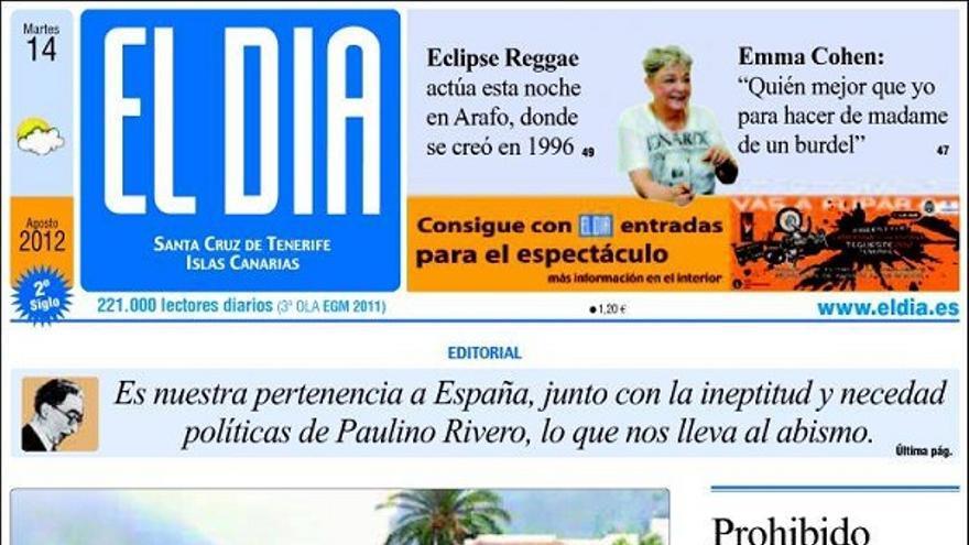 De las portadas del día (14/08/2012) #4