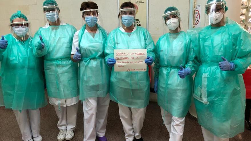 Sanitarias de Dolores agradecen a las mujeres del municipio su ayuda contra el COVID-19.