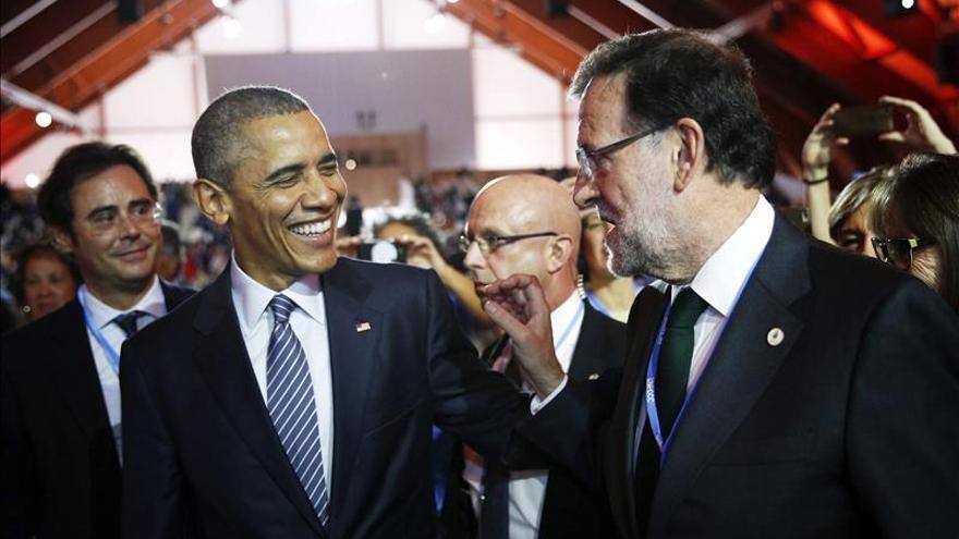 Rajoy conversa con Obama durante la cumbre de líderes sobre el clima