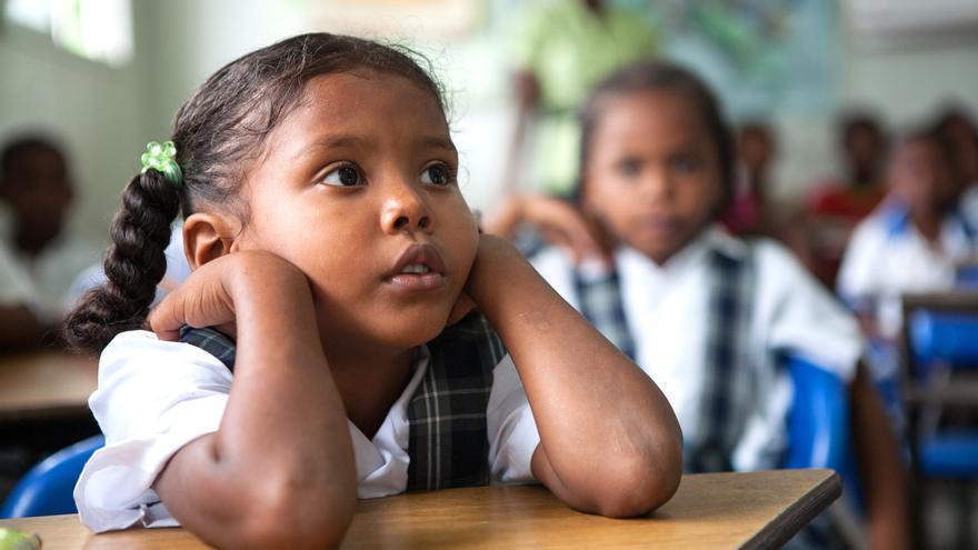 Una alumna del Chocó en clase. FOTO: Salva Campillo / AeA