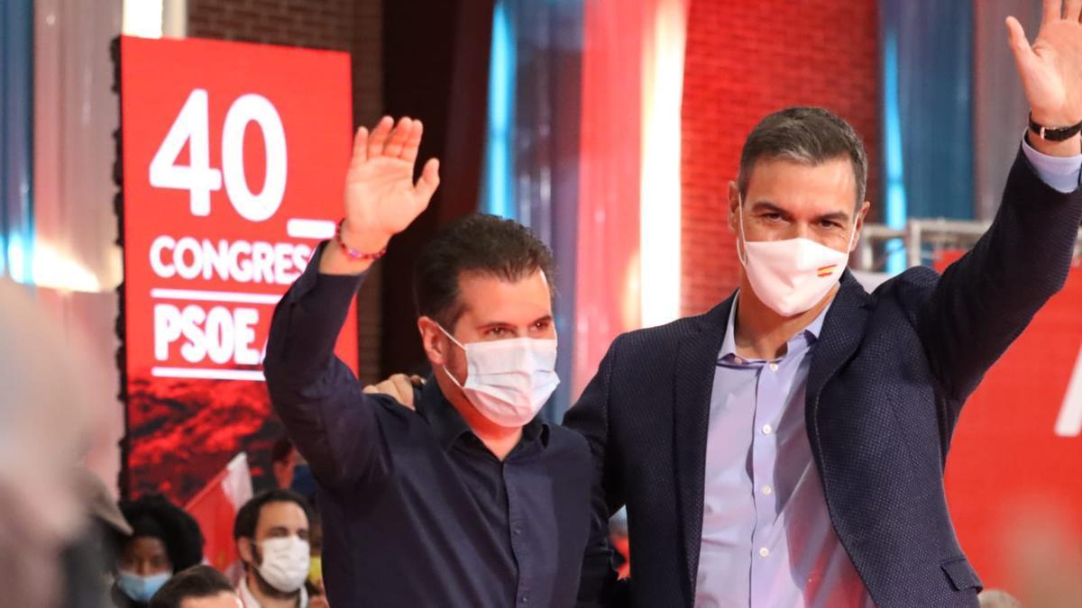 Luis Tudanca y Pedro Sánchez en Ponferrada.