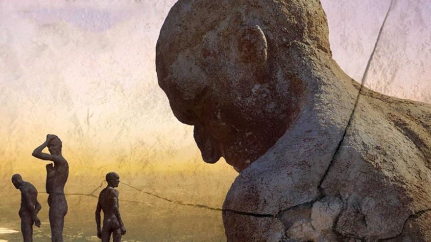 Cartel de 'El silencio de otros'. Memorial del Valle del Jerte.