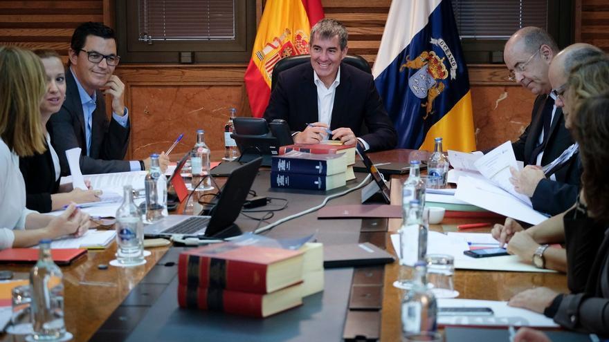 Imagen de archivo de un Consejo de Gobierno en Canarias