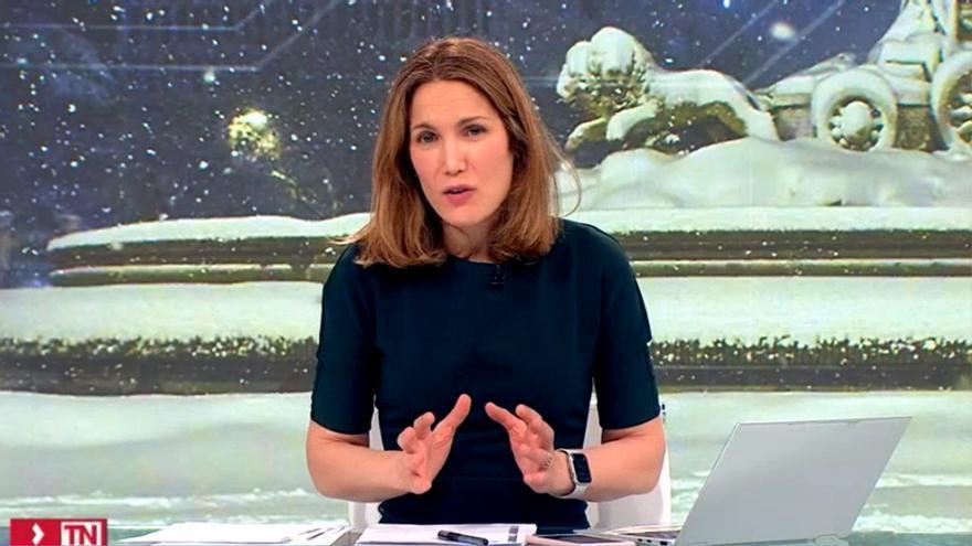 Silvia Intxaurrondo, en sus 17 horas en directo en Telemadrid con Filomena