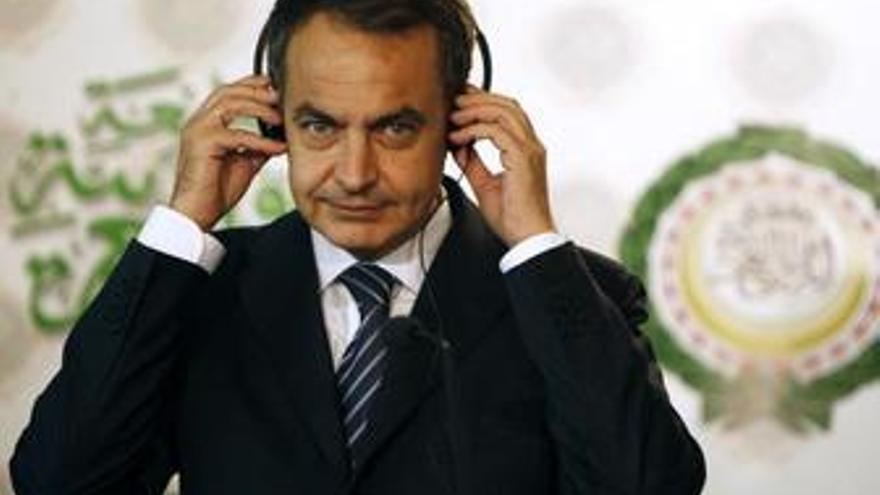 Primer plano de Zapatero en su viaje a El Cairo