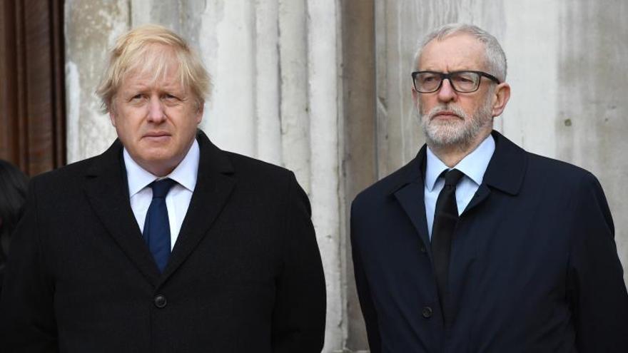 Johnson y Corbyn, los dos únicos líderes con opciones a gobernar