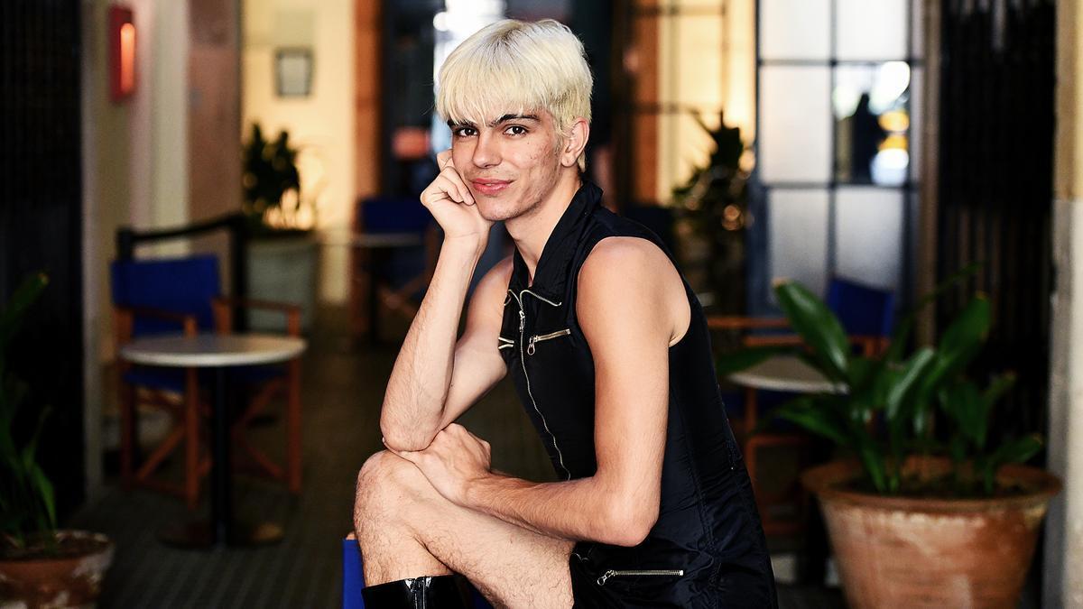 Samantha Hudson, durante la entrevista en Barcelona