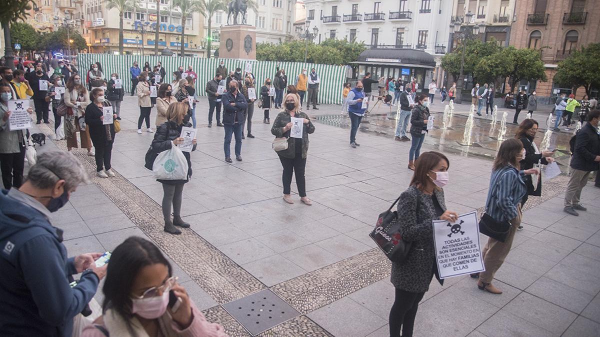 Protesta de hosteleros en Las Tendillas