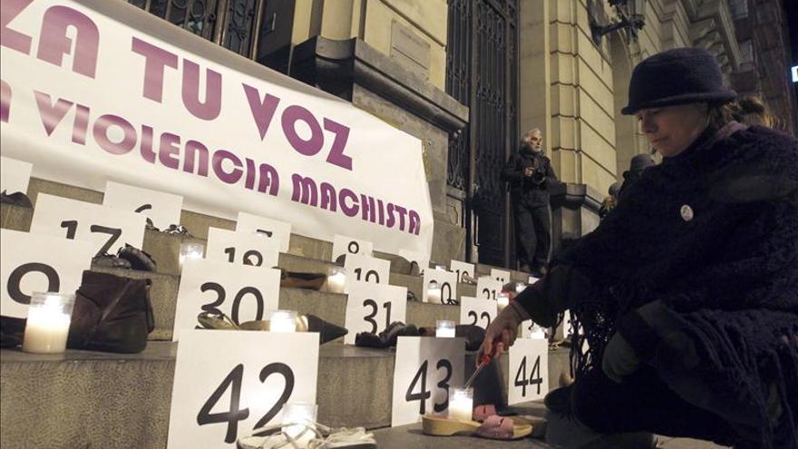 El número de víctimas de violencia machista bajó un 9,6 por ciento en 2012