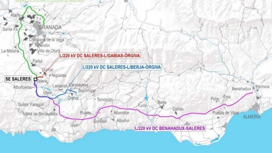 4.000 alegaciones contra la construcción de una red eléctrica en las comarcas del Lecrín y la Alpujarra de Granada