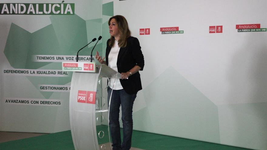 """Díaz recuerda a Rajoy que es también presidente de los andaluces y le pide que devuelva lo que les """"ha quitado"""""""