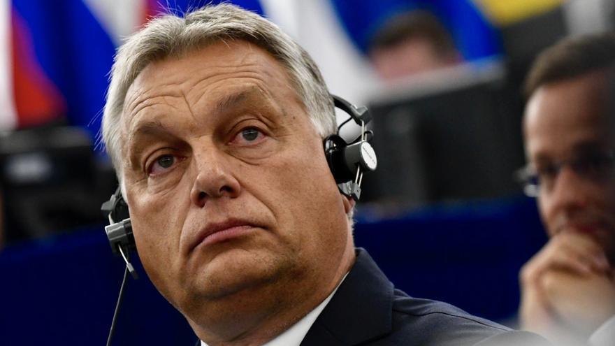 El primer ministro húngaro, Viktor Orbán, en el Parlamento Europeo, el 11 de septiembre de 2018.