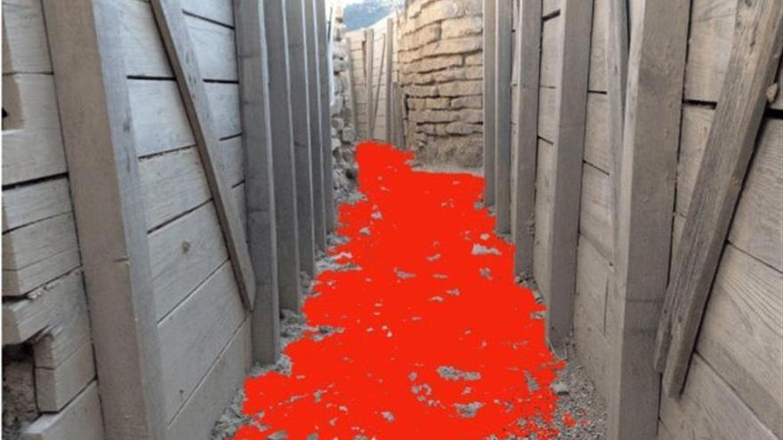 Un sendero de grava roja homenajea el paso de Orwell por la Guerra Civil