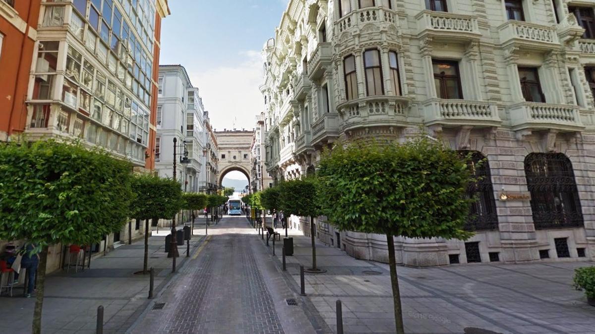 Calle Marcelino Sanz de Sautuola de Santander.