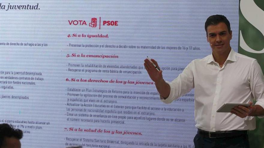 Sánchez dice que Iglesias deberá votar sí a un gobierno del PSOE tras el 26J