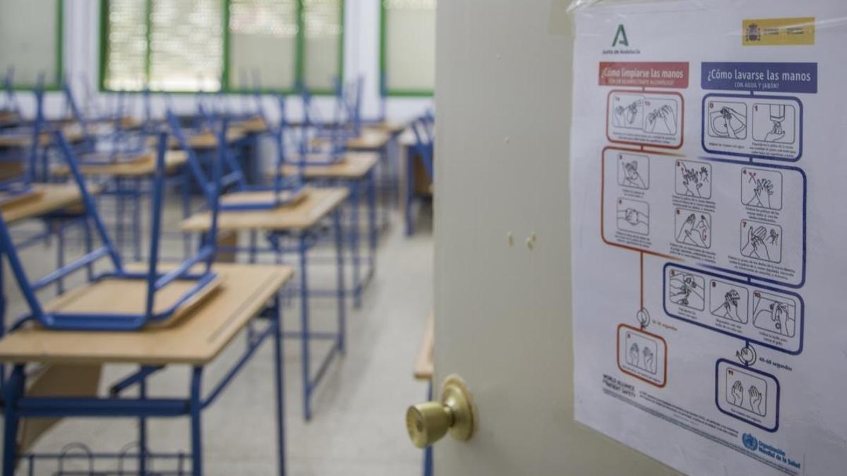 Aula, colegio, foto de archivo