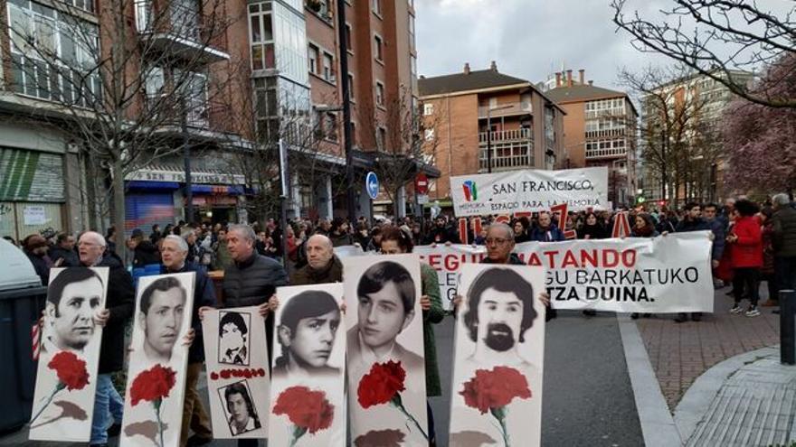 Manifestación en recuerdo del tres de marzo de 1976
