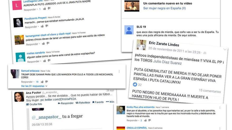 El odio vertido por muchos internautas acapara toda la red.