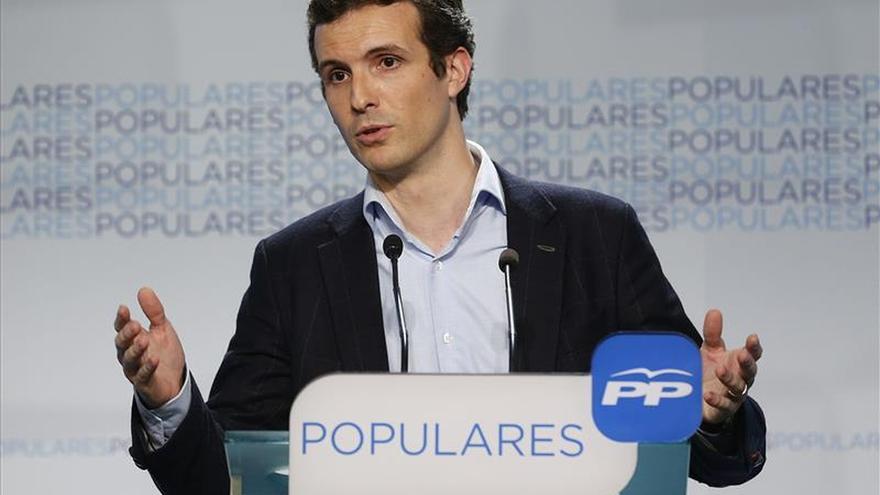 """Pablo Casado dice que """"el PP no está como Sánchez y Susana Díaz, que parecen Pimpinela"""""""