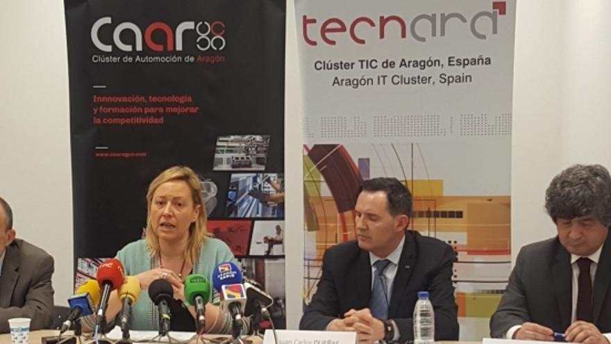 La consejera de Economía del Gobierno de Aragón, Marta Gastón, en la presentación del estudio