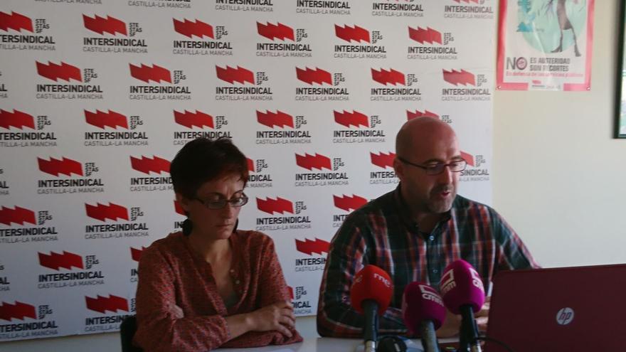 Matilde Castilla y José Miguel Alis, hoy, en rueda de prensa