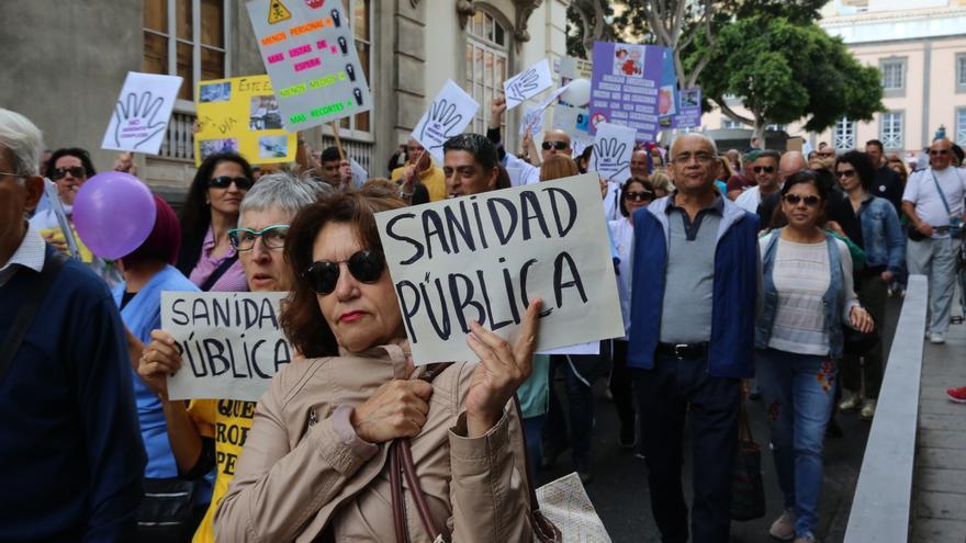 Manifestación por la sanidad en Las Palmas de Gran Canaria