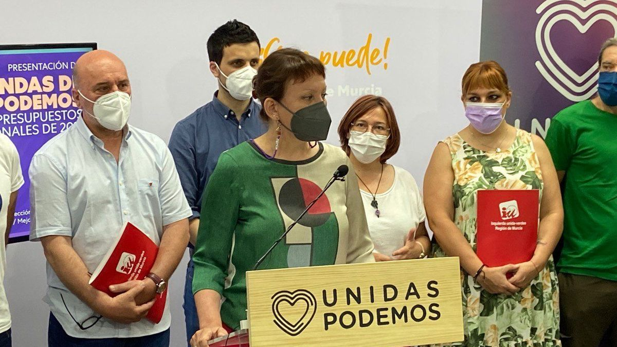 La portavoz regional de Podemos, María Marín