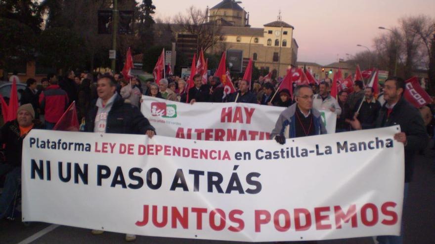 Foto de archivo de la Plataforma por la Ley de Dependencia en Castilla-la Mancha