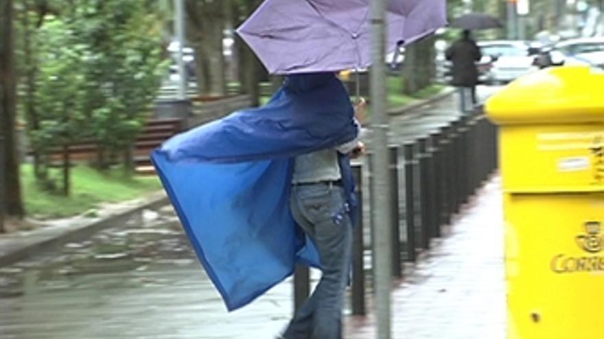 Lluvia y viento en la ciudad condal