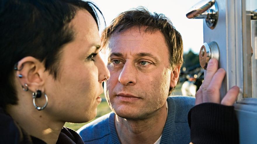 Noomi Rapace y Michael Nyqvist en la primera entrega de 'Millenium'
