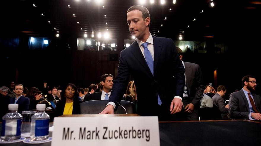 Mark Zuckerberg, ante el Congreso de Estados Unidos.