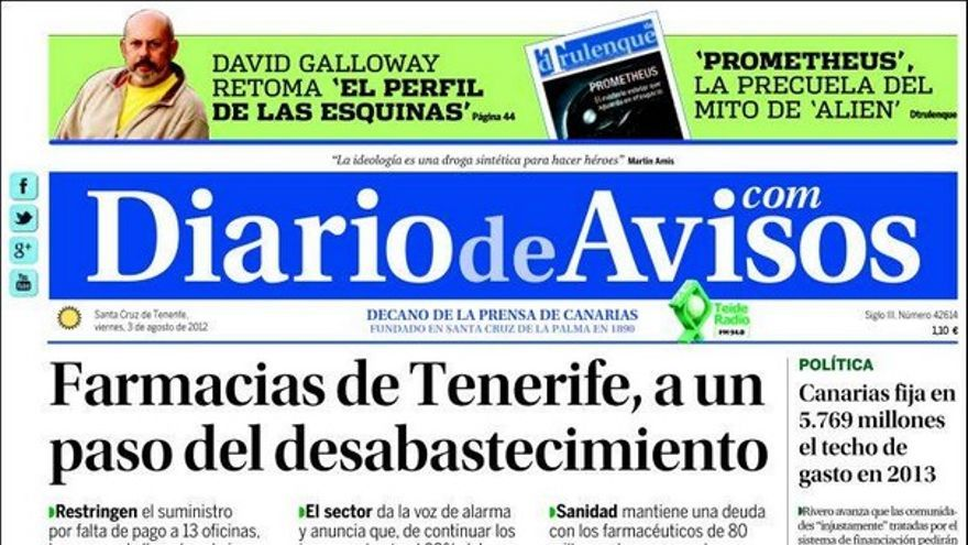 De las portadas del día (03/08/2012) #3