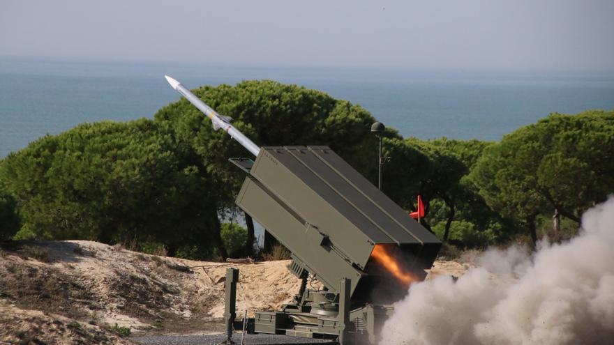 Batería de misiles Nasams.