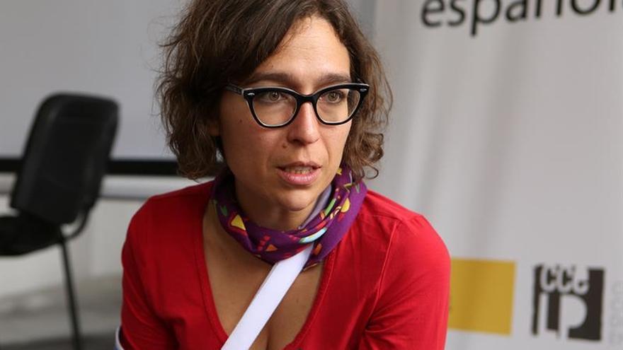 Dramaturga española da en Bolivia propuesta teatral para trabajar conflictos