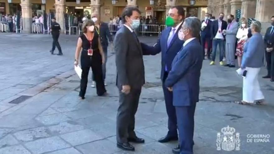Llegada de Adrián Barbón a la Conferencia de Presidentes.