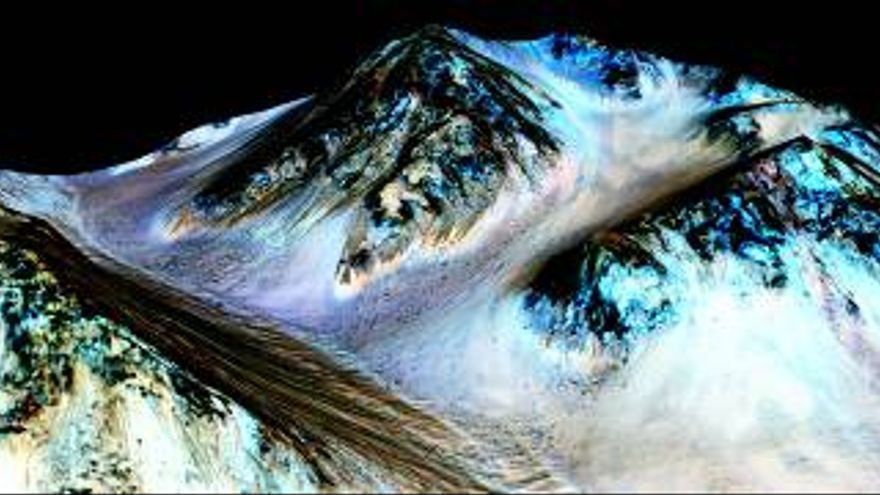 Fuente: NASA (https://www.nasa.gov/press-release/nasa-confirms-evidence-that-liquid-water-flows-on-today-s-mars)