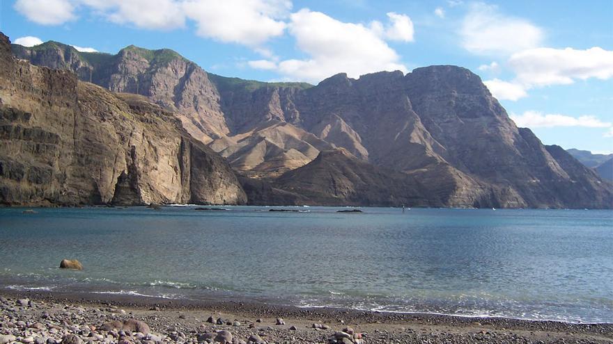 Tamadaba visto desde la playa de Agaete. (Fergc75)