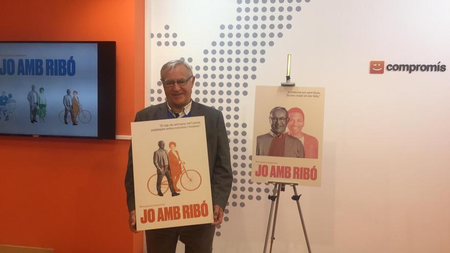 El alcalde de València, Joan Ribó, en la presentación de su candidatura