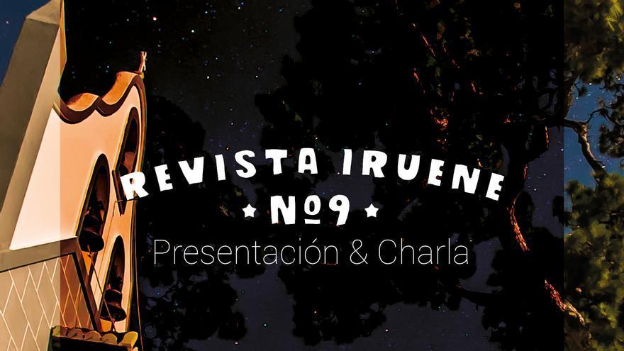 Cartel de la presentación del número 9 de la revista  Iruene.