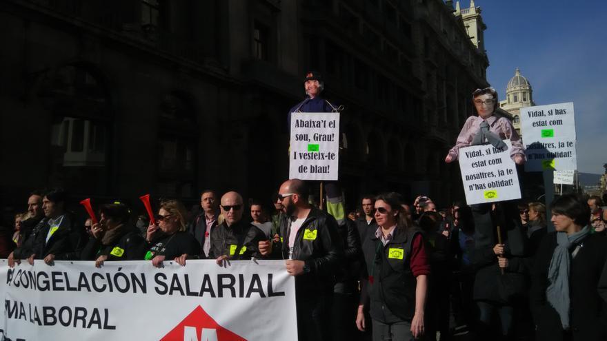 Los huelguistas recuerdan a la concejal de movilidad que se haya olvidado de cuándo trabajaba en el metro