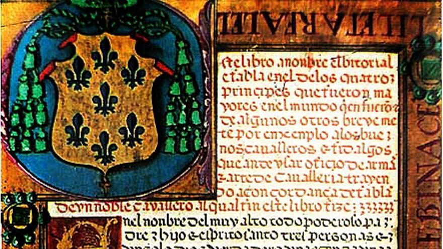 El Victorial, escrito por Gutierre Díez de Games, recoge los hechos y hazañas de Pero Niño. Se cree que se empezó a redactar en 1406, y que el grueso de la obra se escribió entre 1436 y 1448. Se le añadió un epílogo en 1453, tras la muerte de Niño. El manuscrito más antiguo, en la foto, se encuentra en la Biblioteca Nacional.