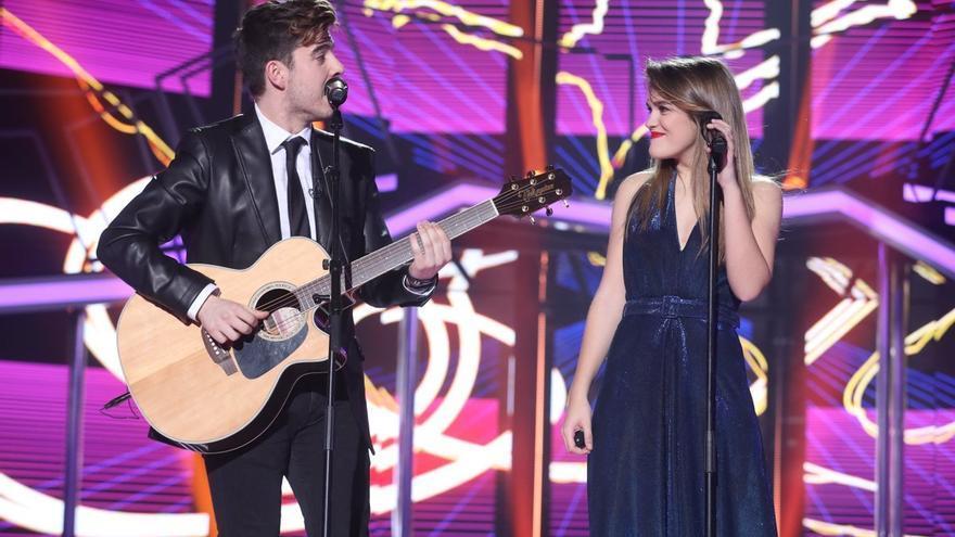 Roi y Amaia sorprenden en la última gala de OT con su versión de Lo malo