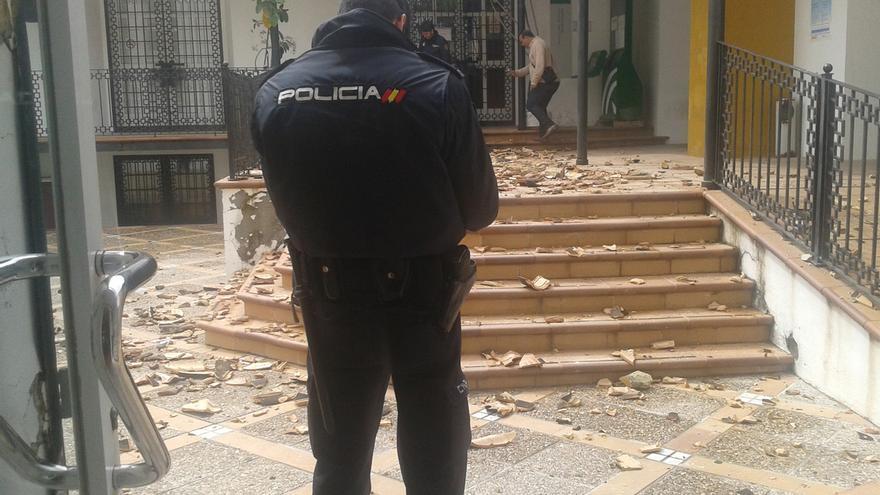 Soldados de EEUU causan destrozos en oficina de empleo de Morón (Sevilla). // DIARIODEMORÓN