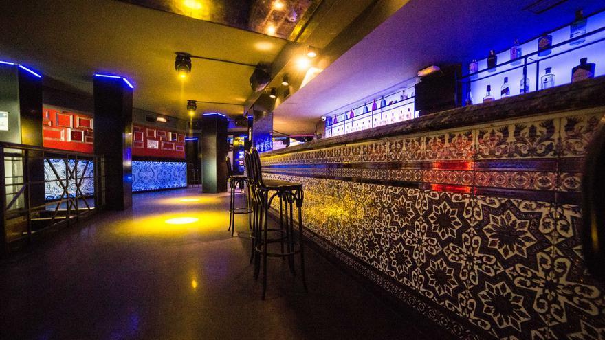 Interior de una discoteca. Foto de archivo