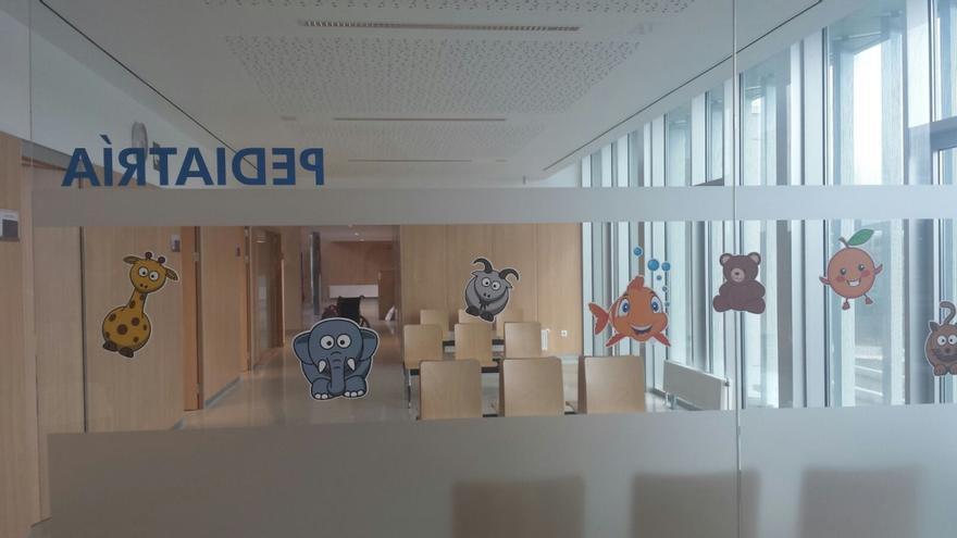 Área de pediatría en un centro sanitario de Galicia
