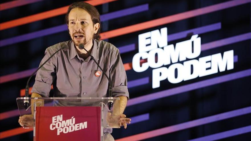 "Iglesias ratifica en Cataluña que si gobierna ""habrá un referéndum"""