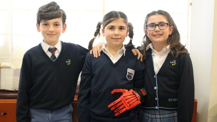 En el Colegio Europeo de Madrid han imprimido una mano para una niña de 9 años