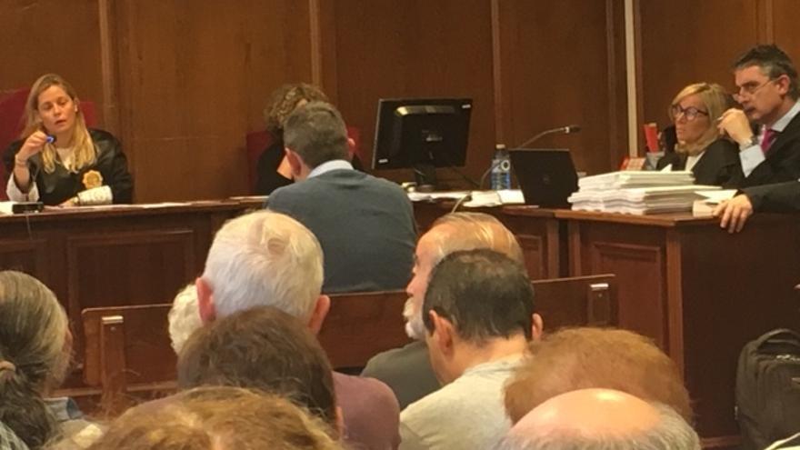 Un momento del juicio que se celebra en Bergara contra la Corporación Mondragon