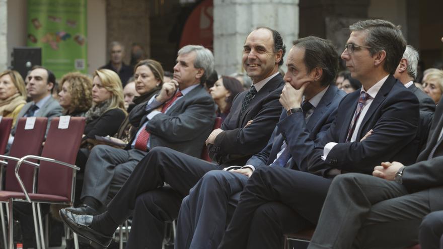 Ignacio Diego, presidente de Cantabria, durante la celebración del aniversario del Estatuto de Autonomía