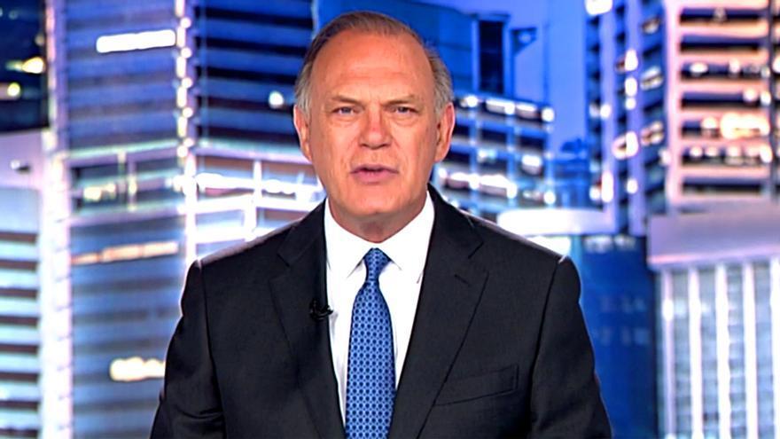 Pedro Piqueras, anoche en Informativos Telecinco